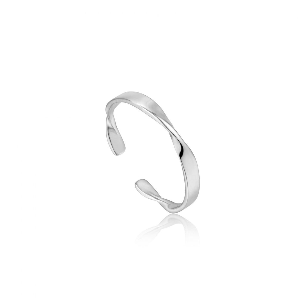 Helix Thin Adjustable Ring - Silver