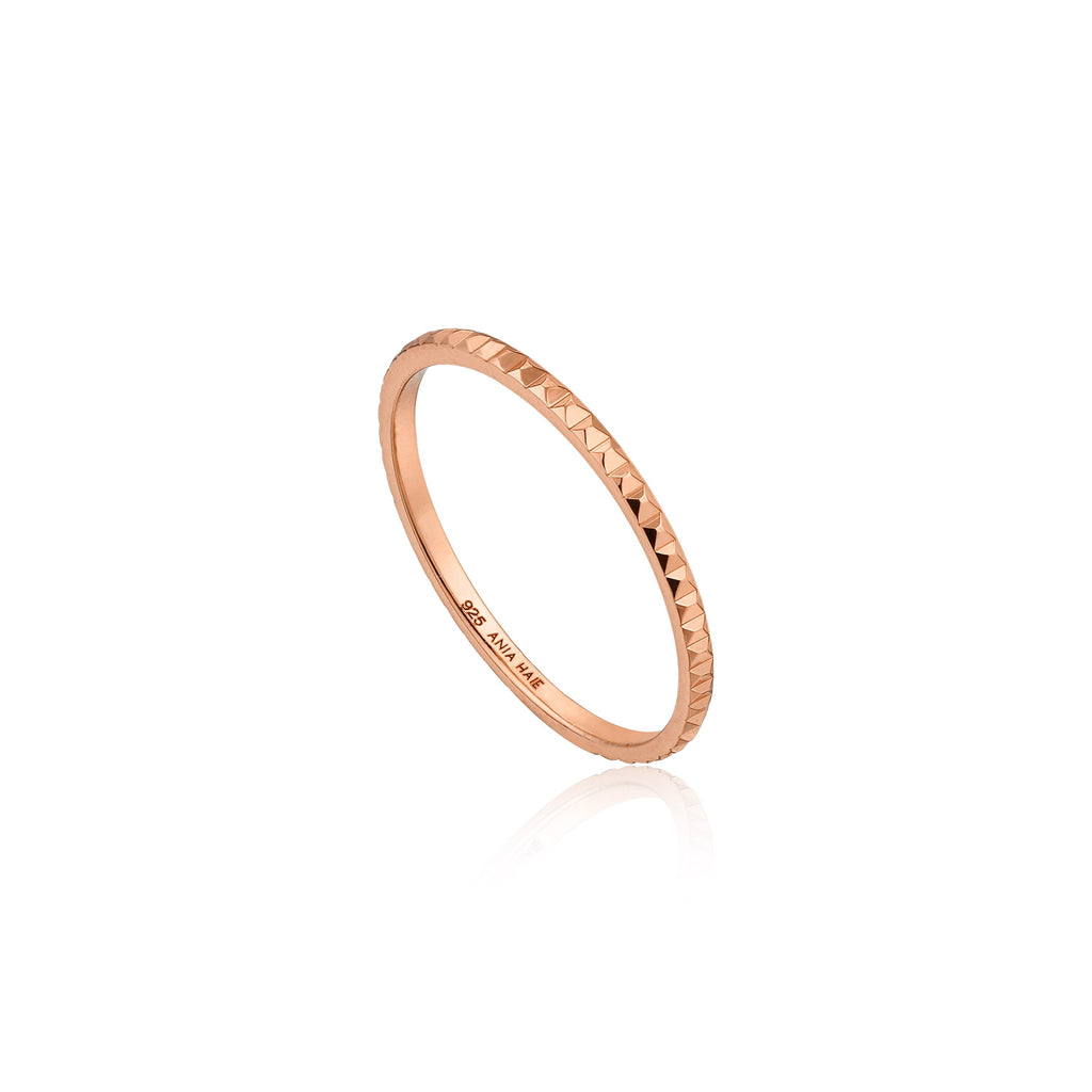 Texture Band Ring - Rose Gold