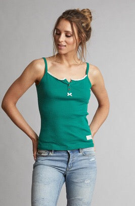 Drop Needle Green Tank Top