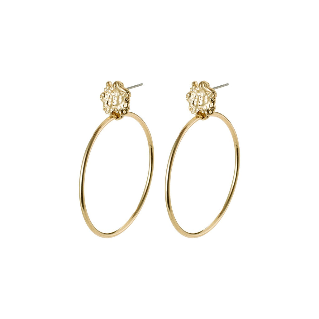 Feelings of LA Hoop Earrings, Gold