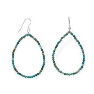 Natural Turquoise Pear Earrings