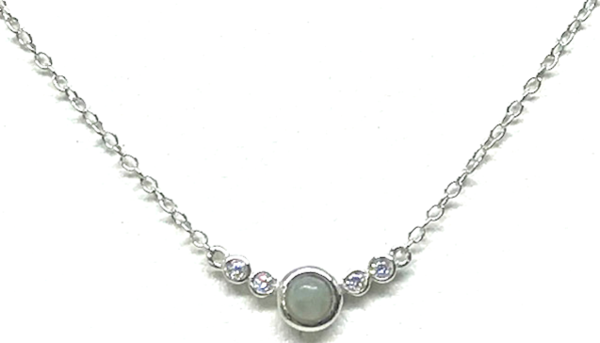Circle Labradorite Necklace