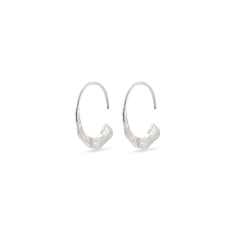 Valkyria Silver Hoop Earrings