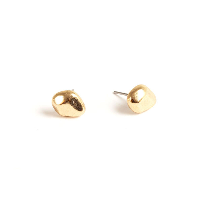 Gold Nugget Stud Earrings