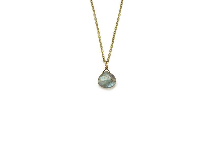 Single Labradorite Necklace