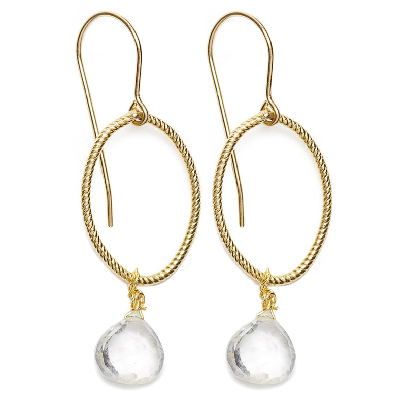 Annika Earrings, Gold / Clear
