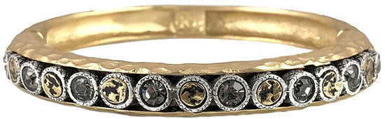 Gold Pira Crystal & Coin Bangle