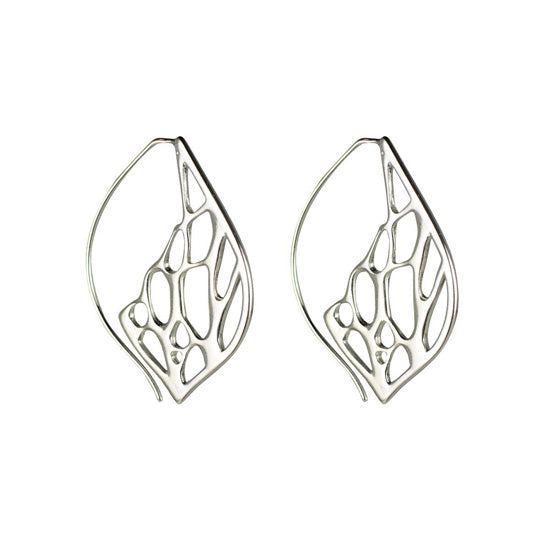 Opuntia Earrings - Medium Framed Lily Hoops
