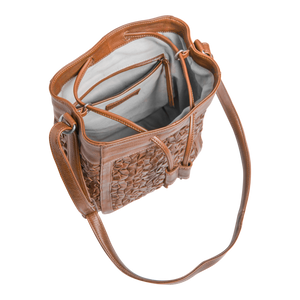 Bailee Bucket Bag, Cognac