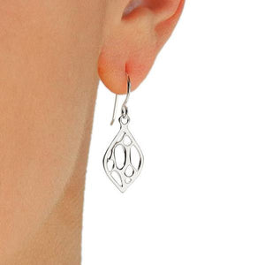 Opuntia Small Framed Lily Earrings
