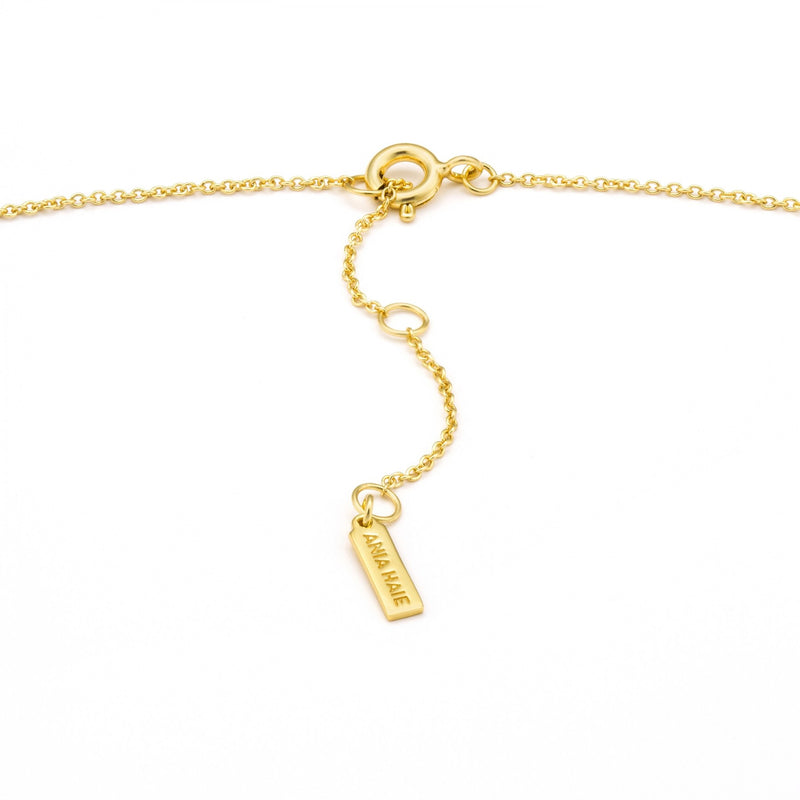 Shimmer Solid Bar Stud Necklace - Gold