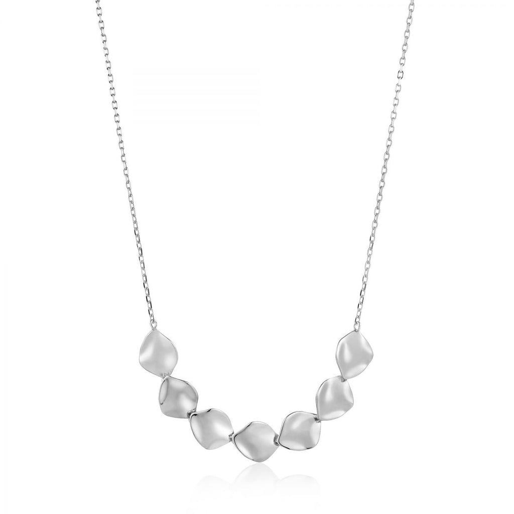 Crush Silver Multiple Discs Necklace