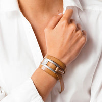 Lauren Camel Leather Wrap Bracelet