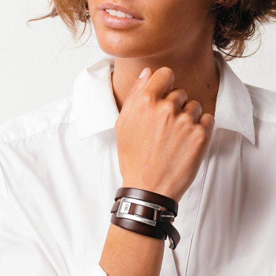 Lauren Brown Leather Wrap Bracelet