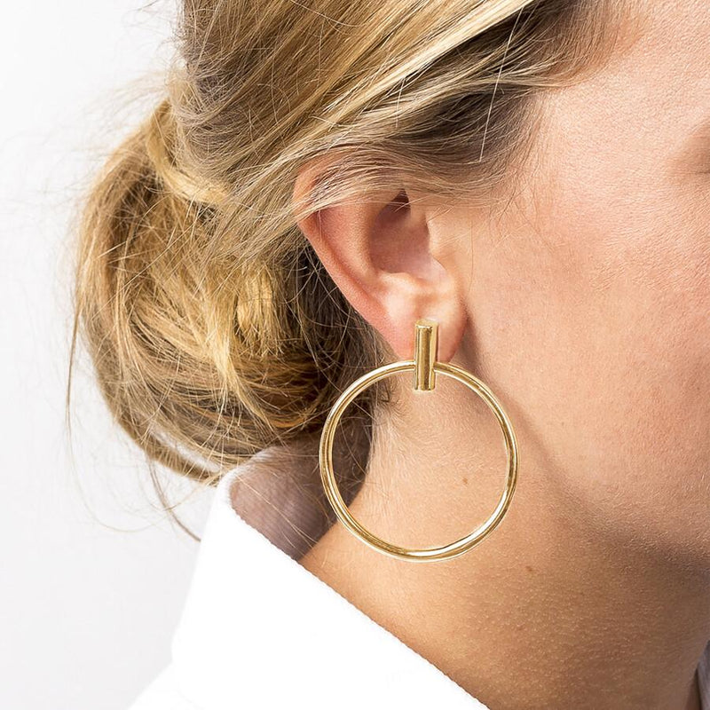 Lauren Large Gold Hoop Earrings