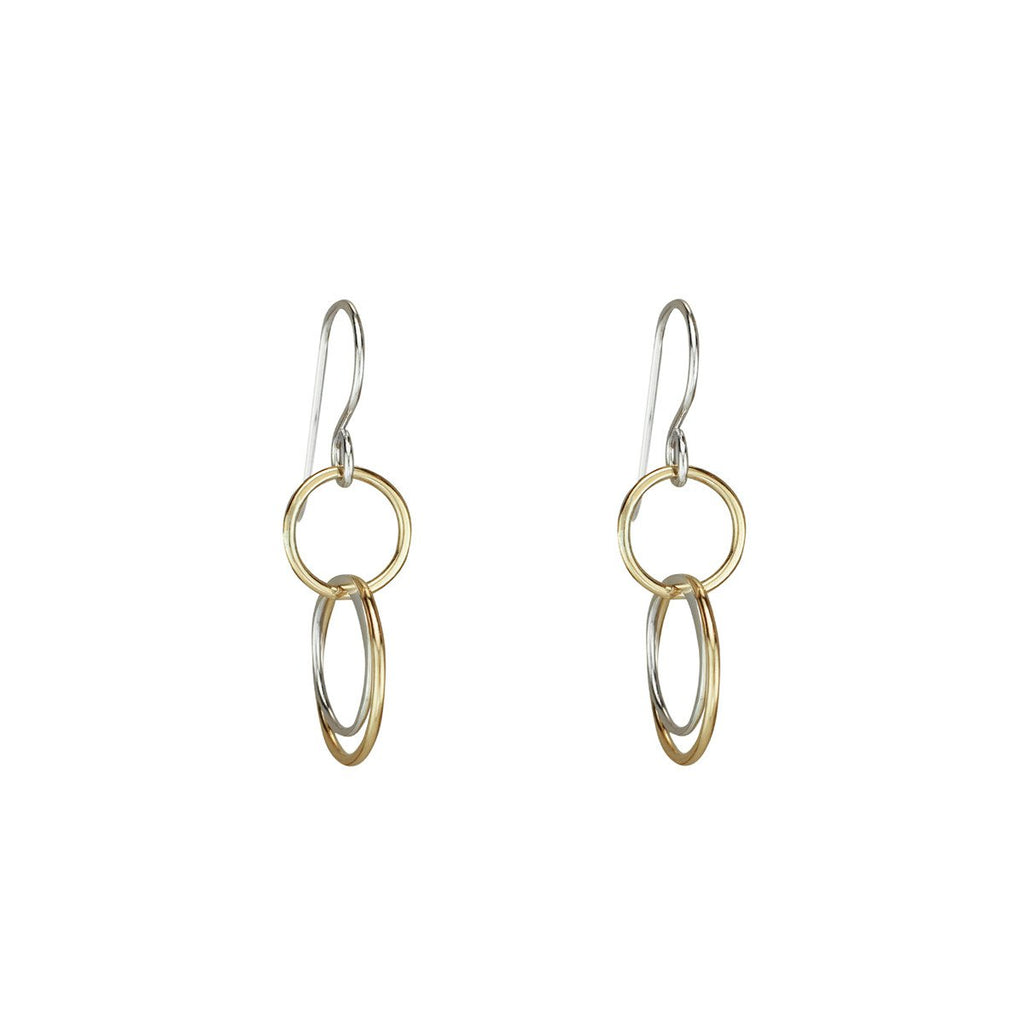 Cynthia Small Three Circle Dangle Earrings