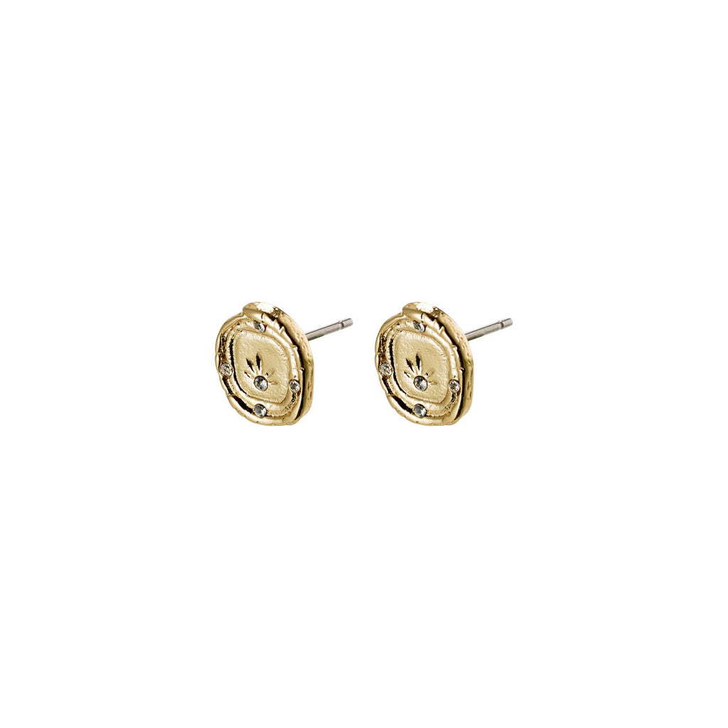 Feelings of LA Stud Earrings, Gold