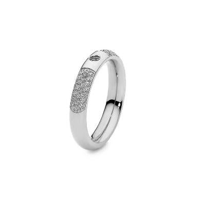 QUDO Small DELUXE Basic Ring, Silver