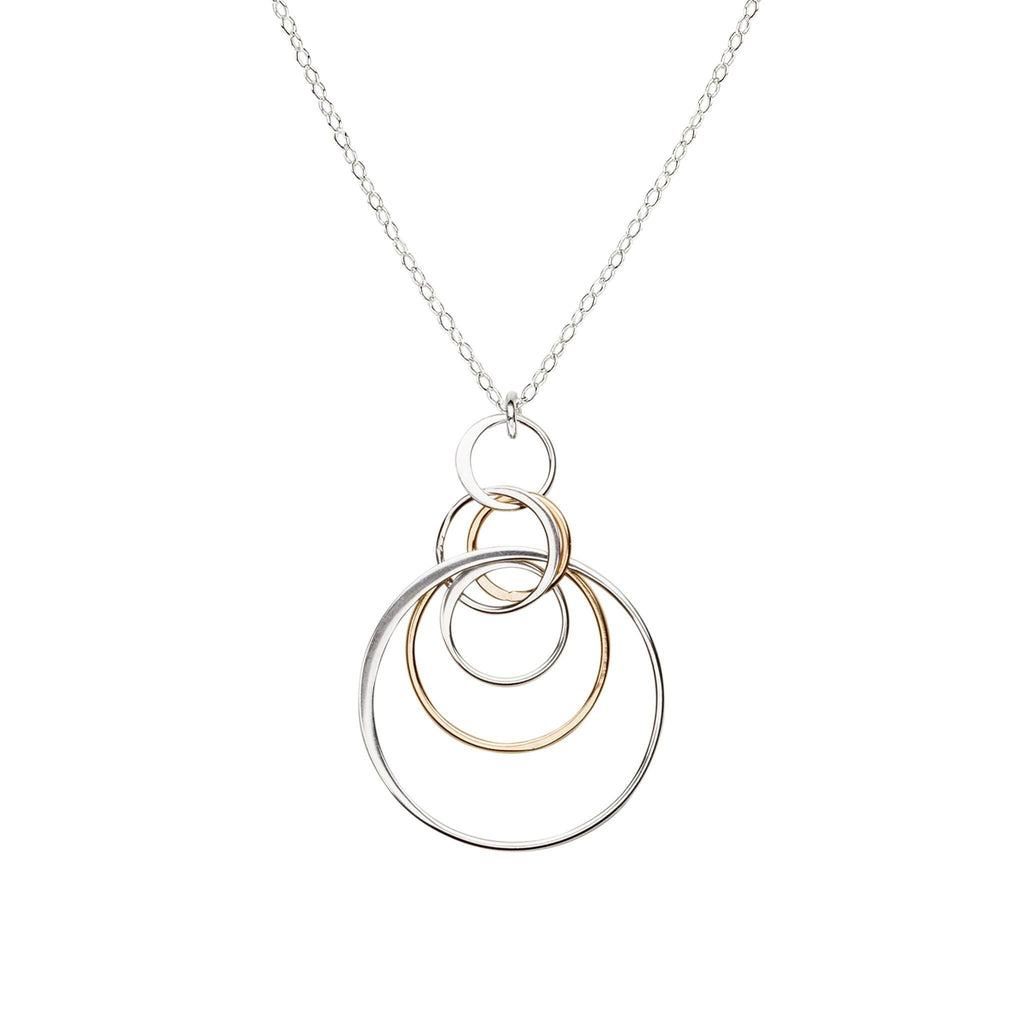 Cynthia Concentric Dangle Circle Necklace
