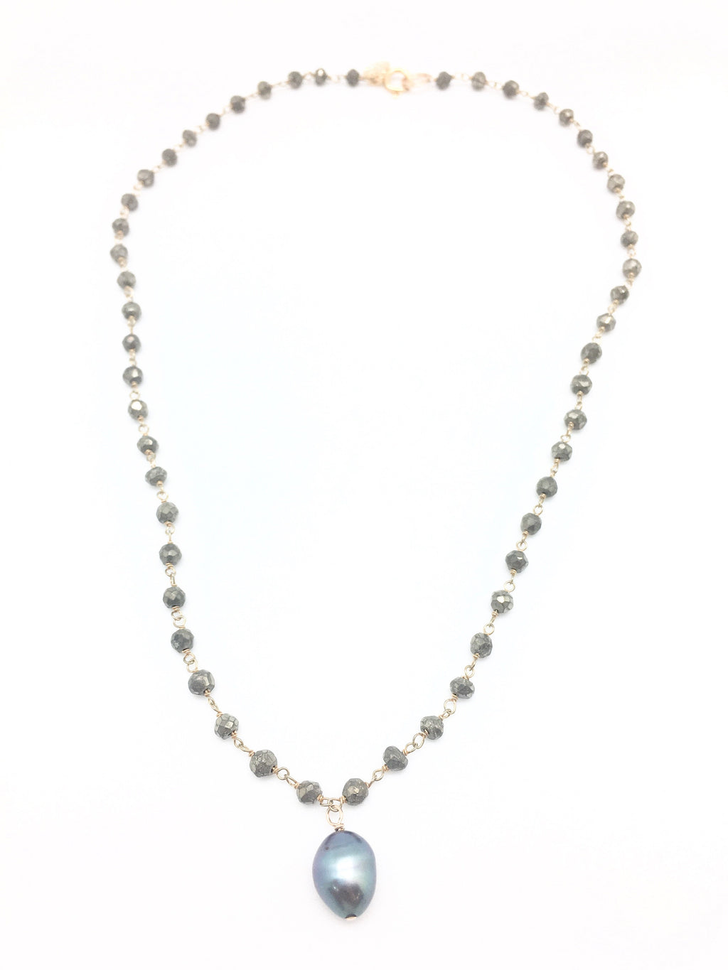 Diddi Short - Pyrite / Dark Grey Pearl Drop