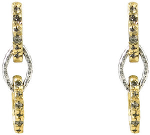 Gold Rinku 3 Link Earrings