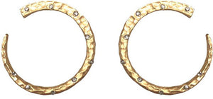 Gold Imperia Wrap Hoops