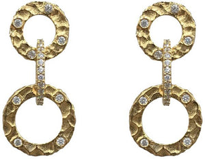 Vintage Gold Volta Crystal Earrings