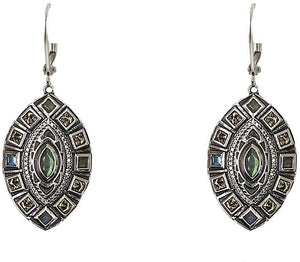 Vintage Silver Seoni Labradorite & Coin Earrings