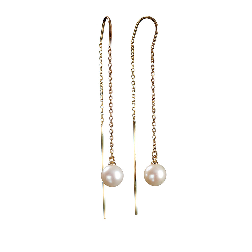 Tango Pearl Earrings - Gold