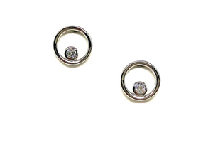 Open Circle Earrings