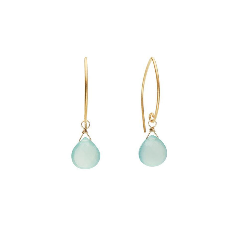 Ella Vermeil Aqua Chalcedony Earrings