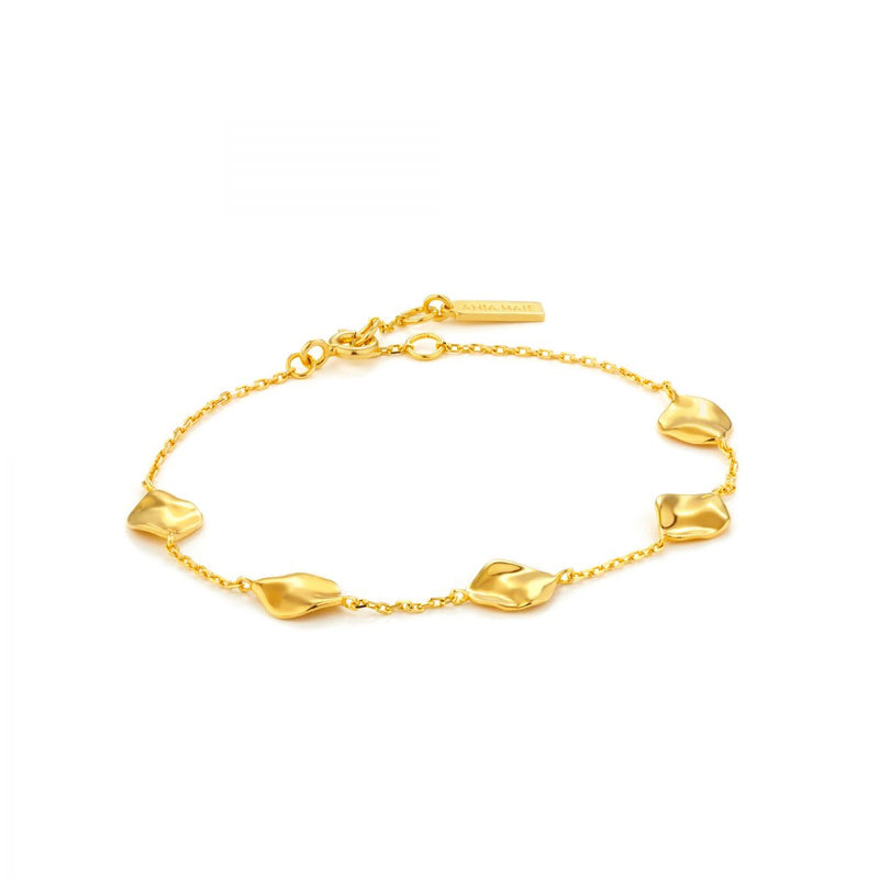 Crush Gold Multiple Discs Bracelet
