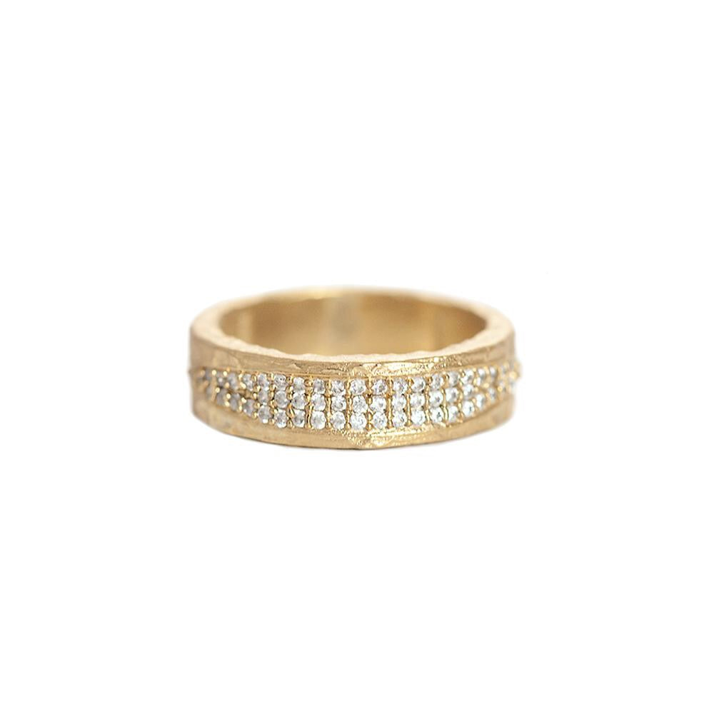 Gold Velen Crystal Inlay Ring