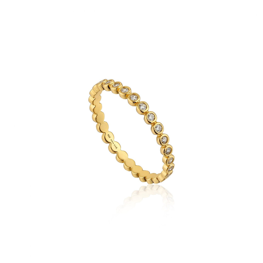 Shimmer Half Eternity Ring - Gold