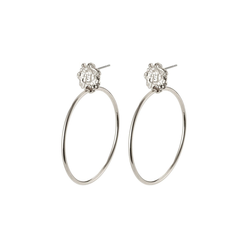 Feelings of LA Hoop Earrings, Silver