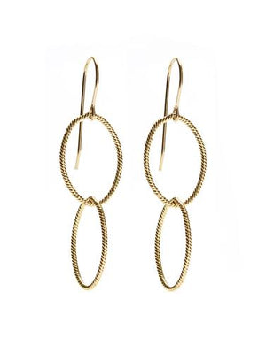 Double Twisted Gold Earrings