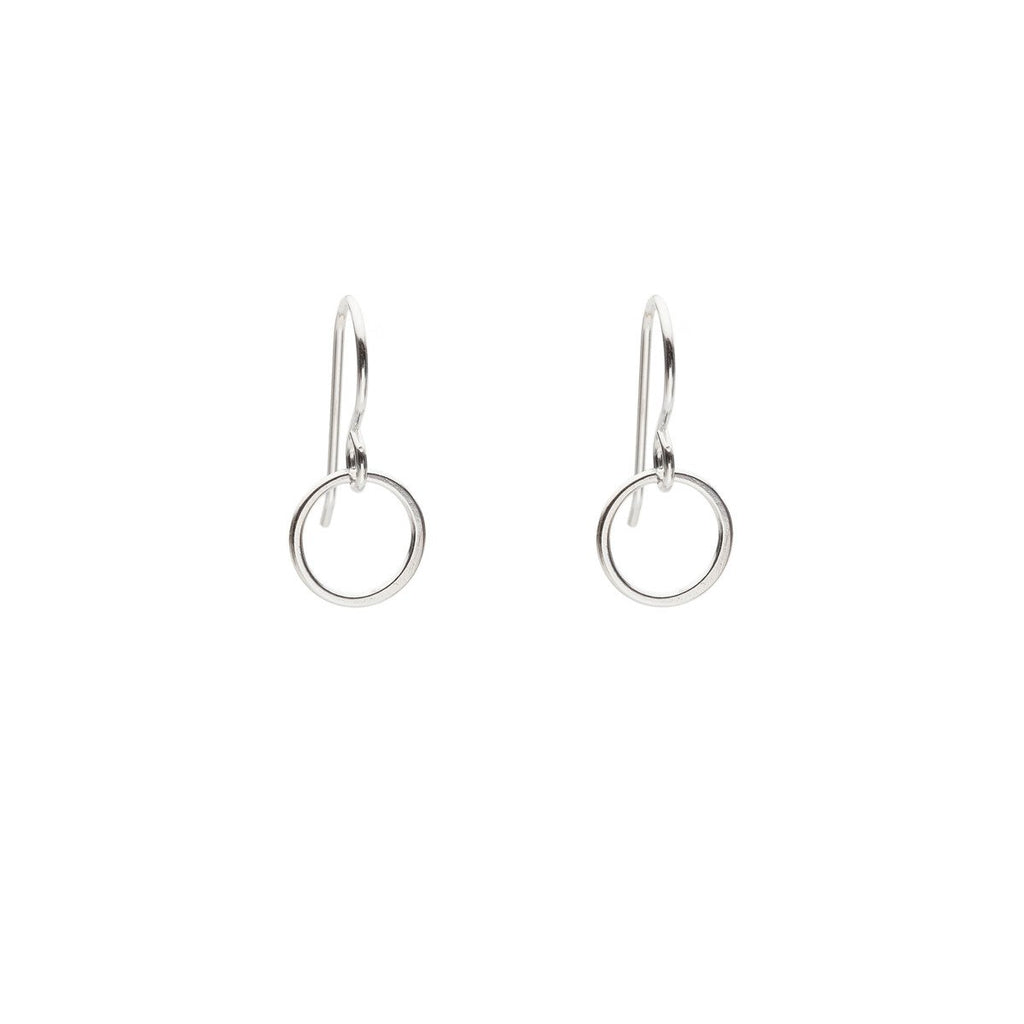 Cynthia Small Silver Circle Earrings
