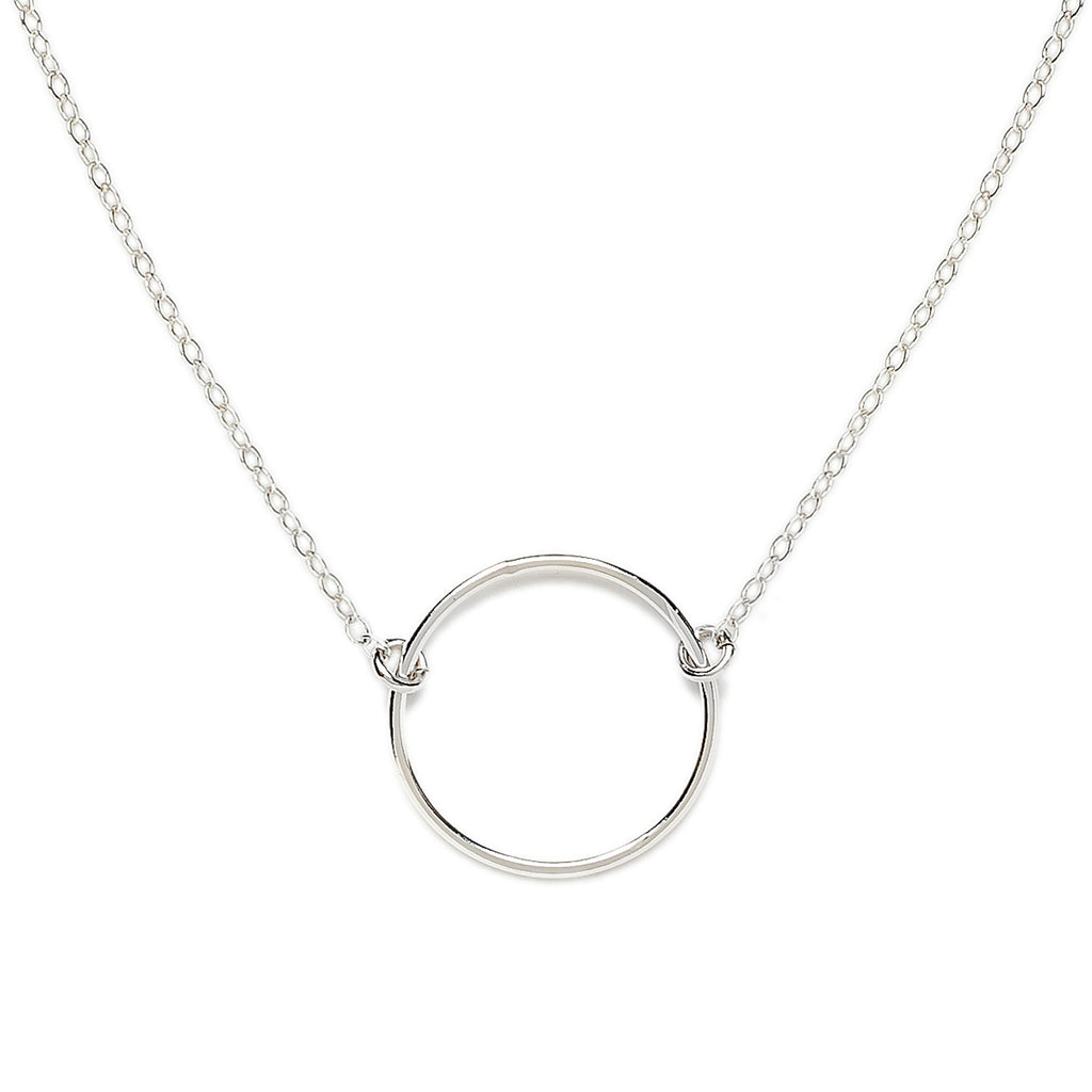 Cynthia Silver Circle Necklace