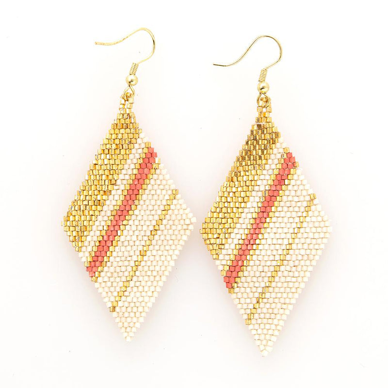 Terra Cotta Gold Diamond Luxe Earrings