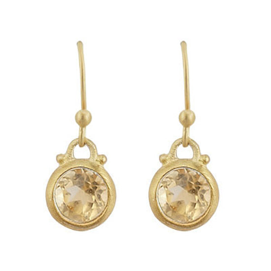 Citrine Charm Earrings