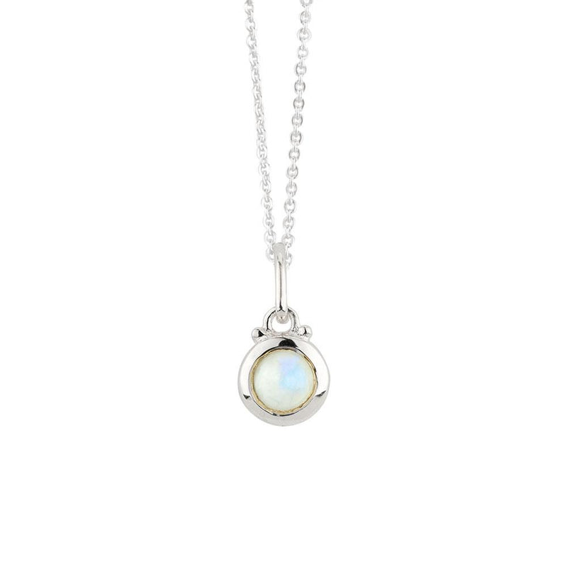 Opal Moonstone Charm Necklace