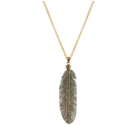 Casbah Mini Feather Necklace