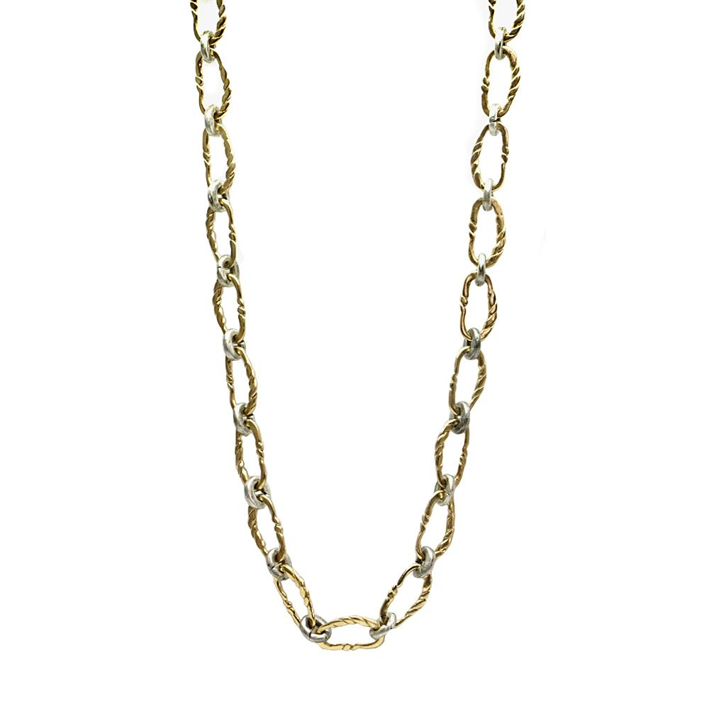 Gold Twisted Link Necklace