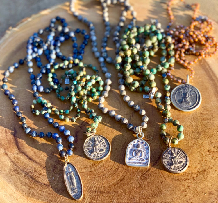Buddha Sodalite Blues Necklace