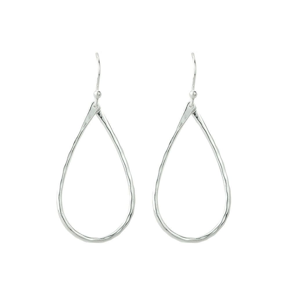 Small Open Tear Earrings