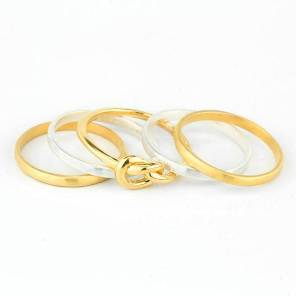 Infinity Ring Stacker Set
