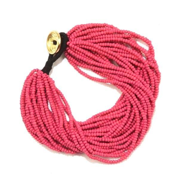 Hot Pink Seed Bead Multi-Layer Bracelet
