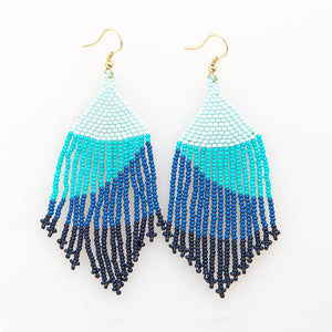 Blue Ombre Seed Bead Earring