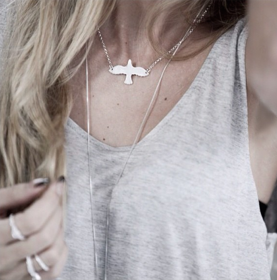 Silver Dove Necklace