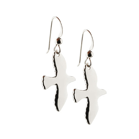 Silver Dove Earrings